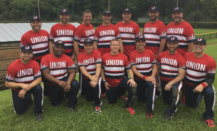 The Union Jacks team earlier this summer. credit: the Columbus Lesbian and Gay Softball Association.