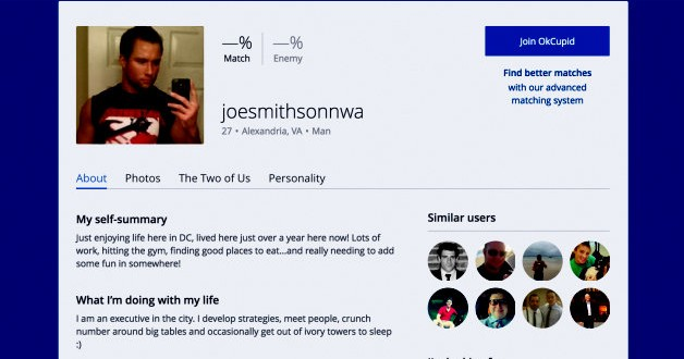 Okcupid search profile name
