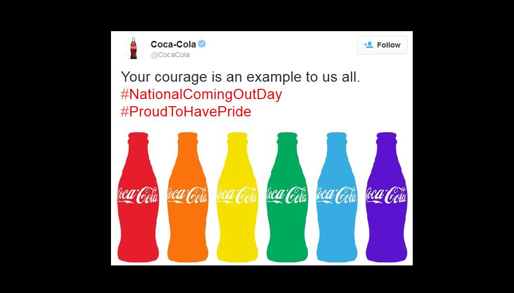 Coca-Cola Celebrates National Coming Out Day - Joe.My.God.