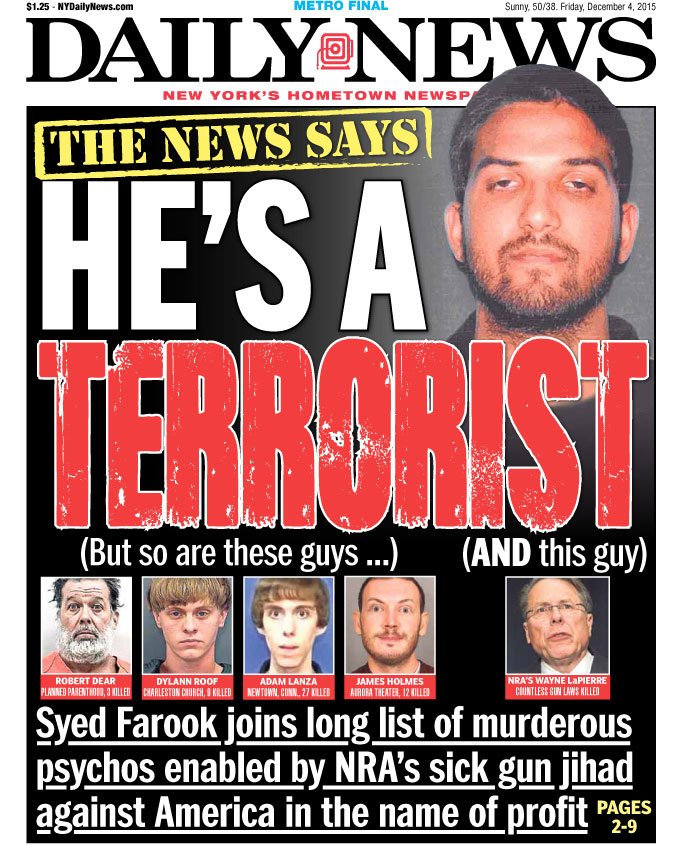 New York Daily News: New York Daily News Front Page: NRA Head Wayne LaPierre Is