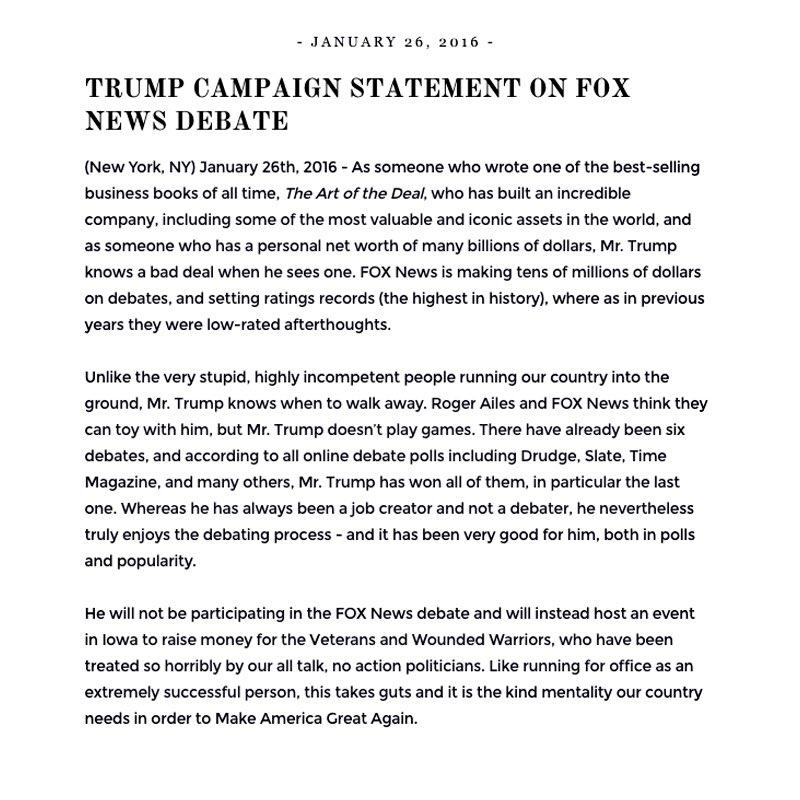 FoxStatement
