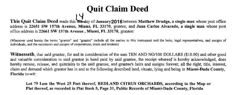 Miami: Homocon Blogger Matt Drudge Gifts $700,000 House To Man