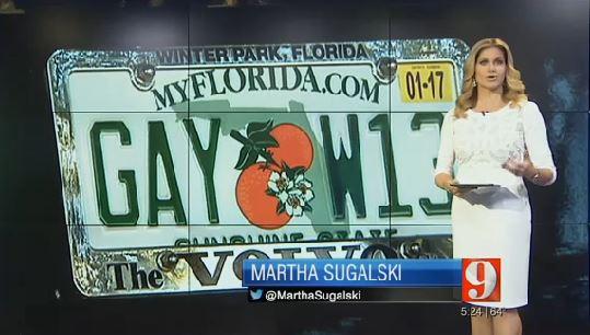 "florida has no problem with ""gay"" license plates - joe.my.god."