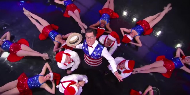 CHRISTMAS IN JULY: Stephen Colbert Opens Show With Whirlwind ...