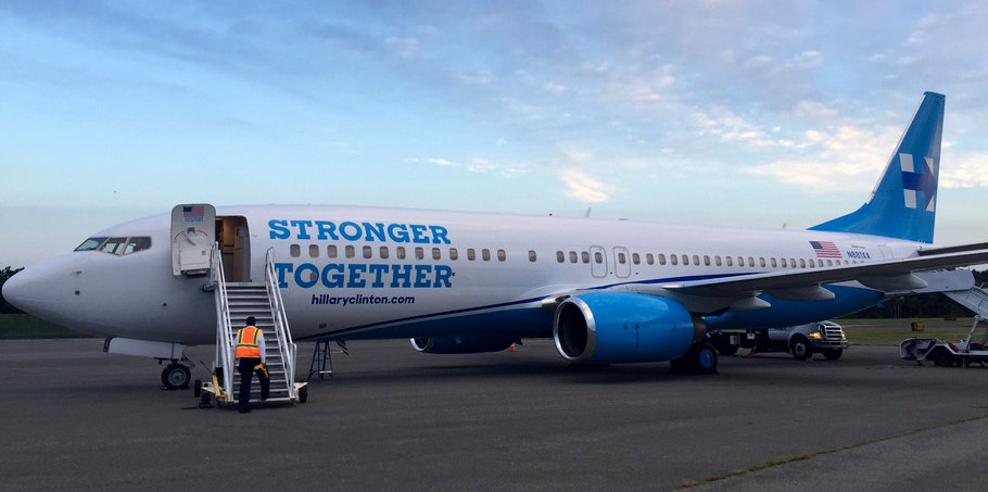 Clinton Campaign Unveils Hill Force One Joe My God