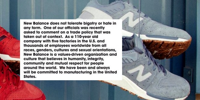Shoemaker New Balance Denounces Support From Nazi Website After Praising  Election Of Donald Trump