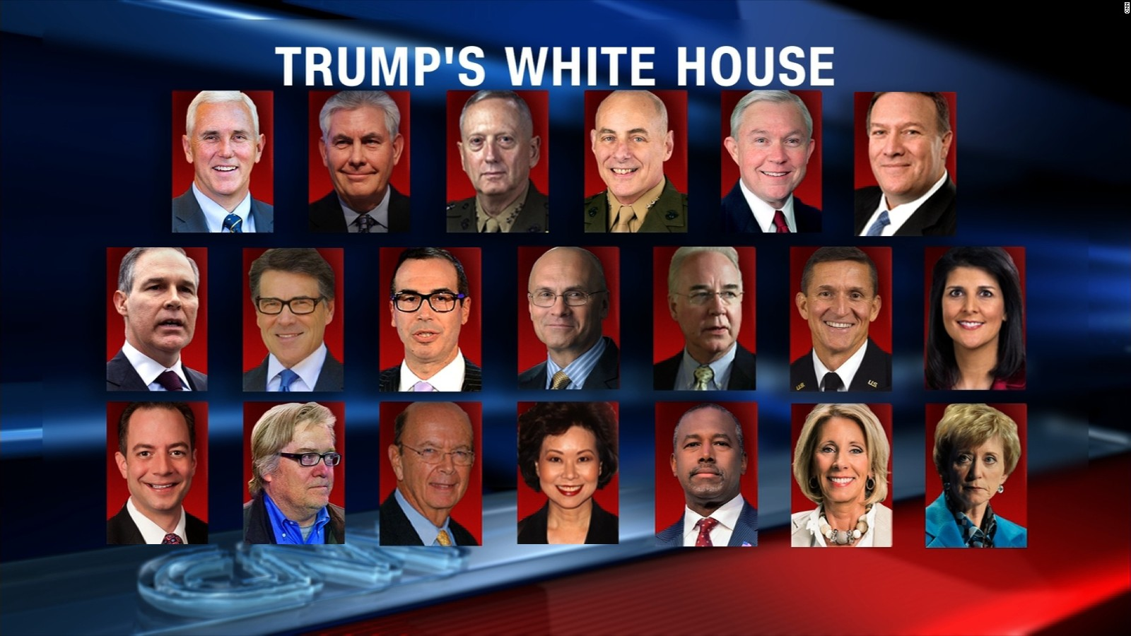 SWAMP THINGS: Net Worth Of Trump And His Cabinet Now Greater Than ...