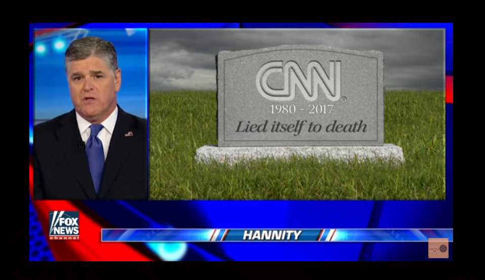 sean hannity  cnn has  u0026quot lied itself to death u0026quot   video
