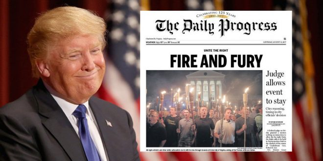 """VIRGINIA: Newspaper Quotes Trump's """"Fire And Fury"""" Rant In ..."""