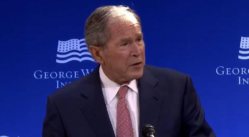 "WHOA: George W. Bush Blasts ""White Supremacy"" In Speech Widely Seen As Aimed At Trump [VIDEO] - Joe.My.God."
