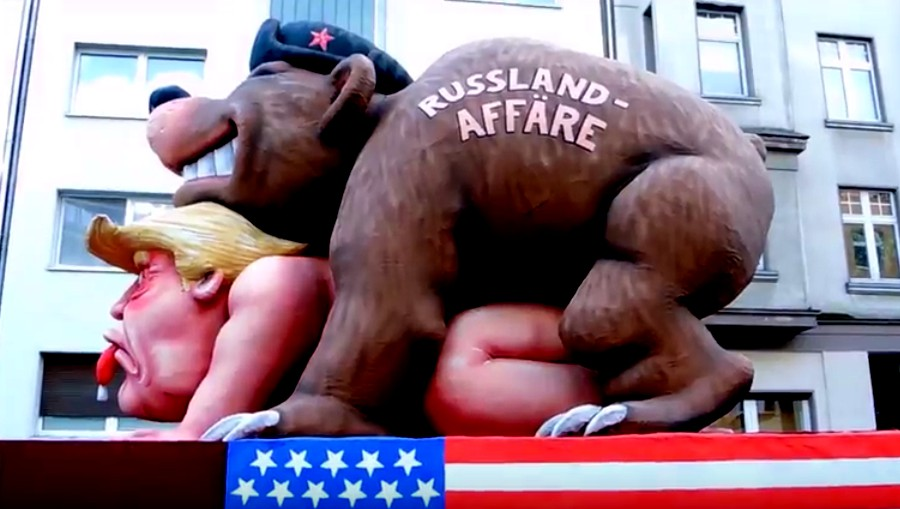 GERMANY: Russian Bear Screws Trump At Parade - Joe.My.God.