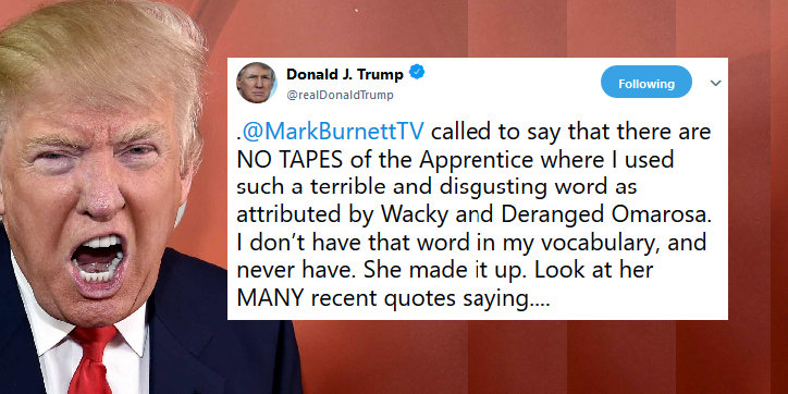 Trump Denies Existence Of N-Word Tapes: Fake News! - Joe.My.God.