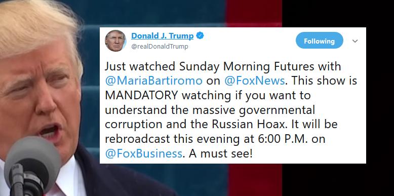 trumps sunday morning tweets - 778×387